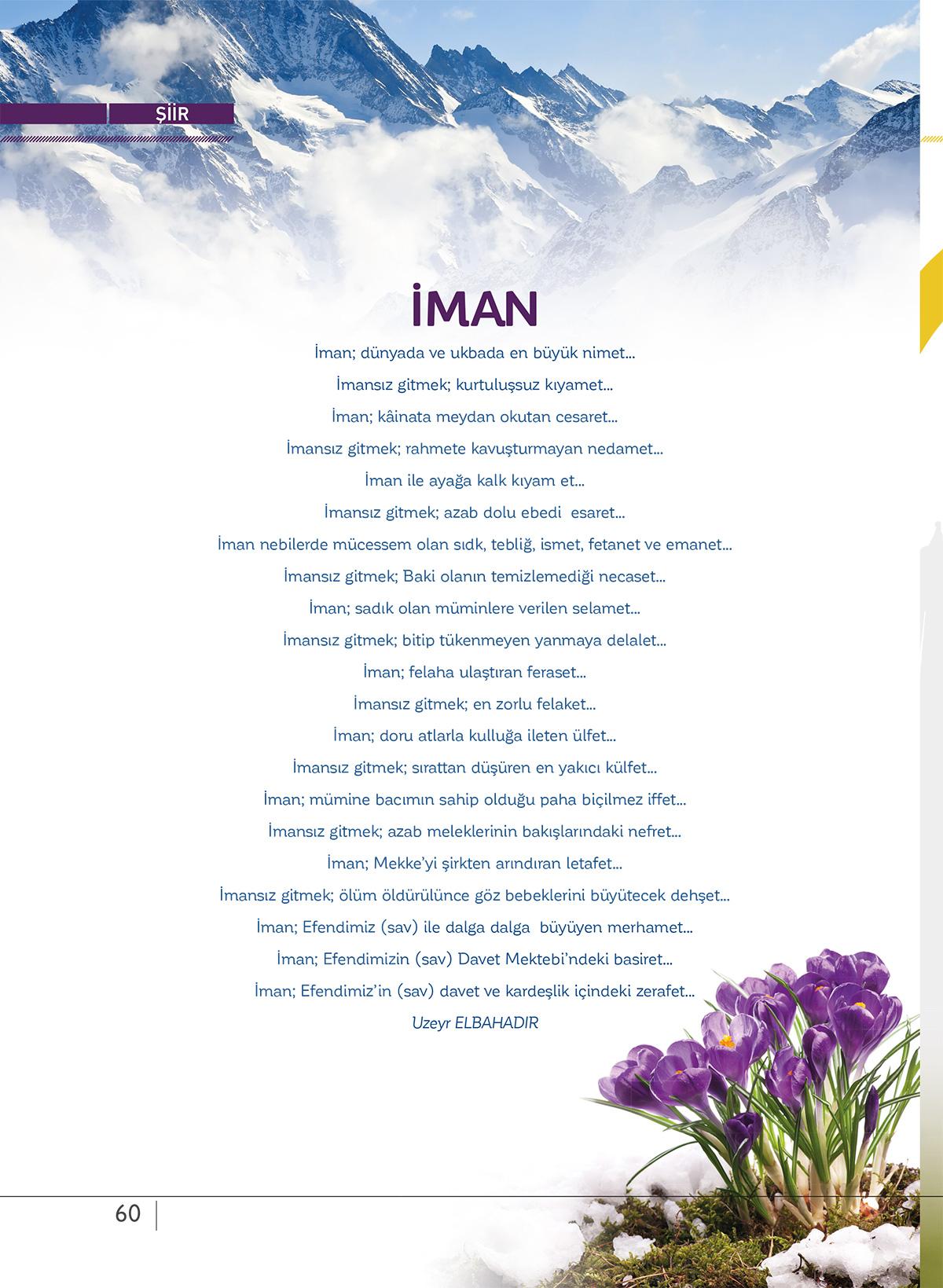 şiir-iman